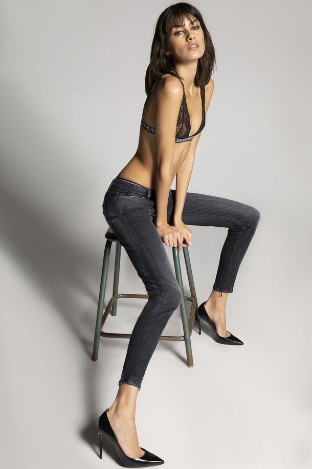 Jeans Twiggy a vita media lavaggio nero - Dsquared2