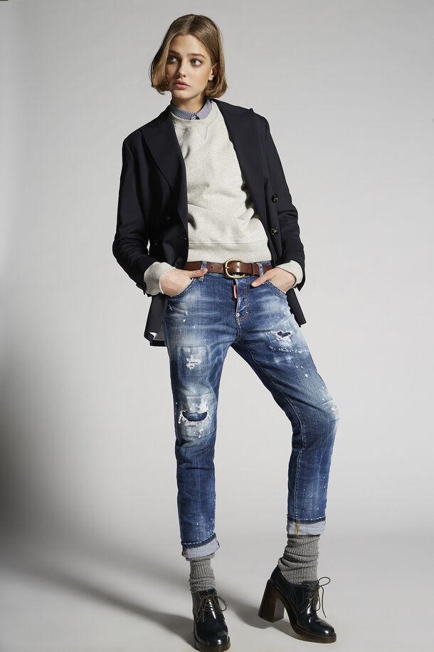 Jeans da ragazza cool lavaggio scuro 2 - Dsquared2