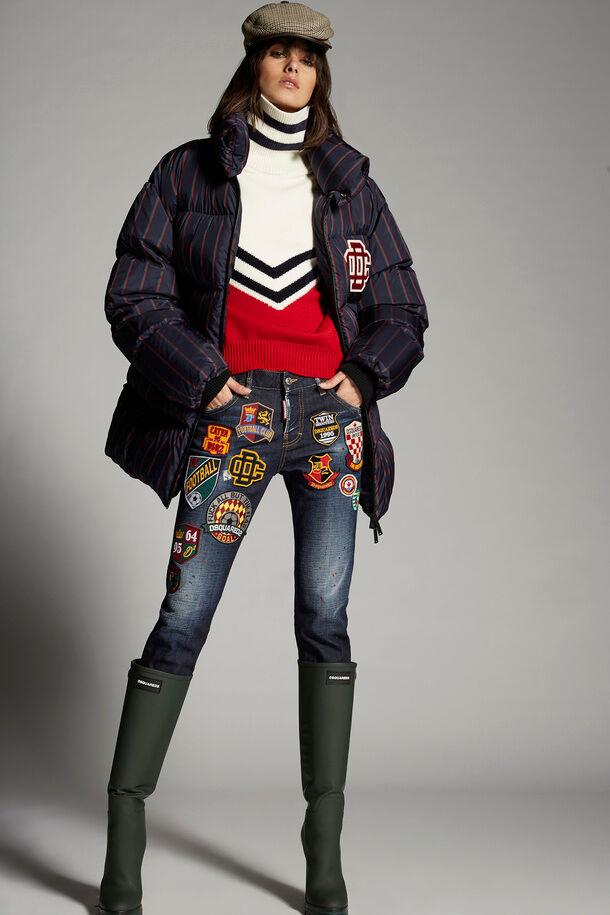 Jeans da ragazza cool patch college - Dsquared2