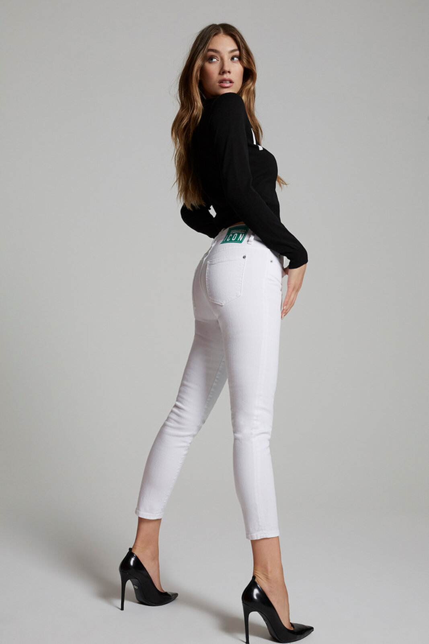 Icon Bull Garment Jeans Jennifer Cropped - Dsquared2