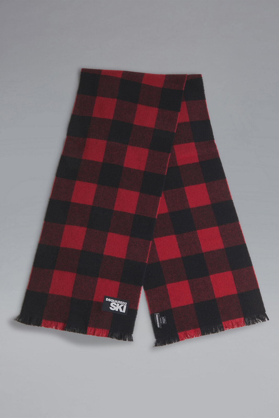 Wool Check Scarf - Dsquared2