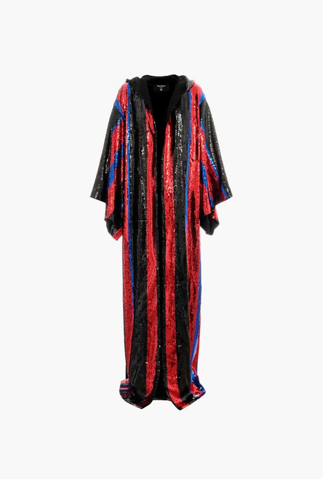 Black, Blue And Red Sequin Kimono With Hood Balmain X Puma - Balmain