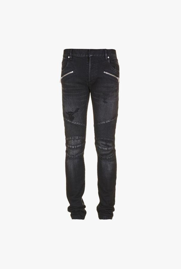 Jeans Slim-Fit Neri In Cotone Modello - Balmain