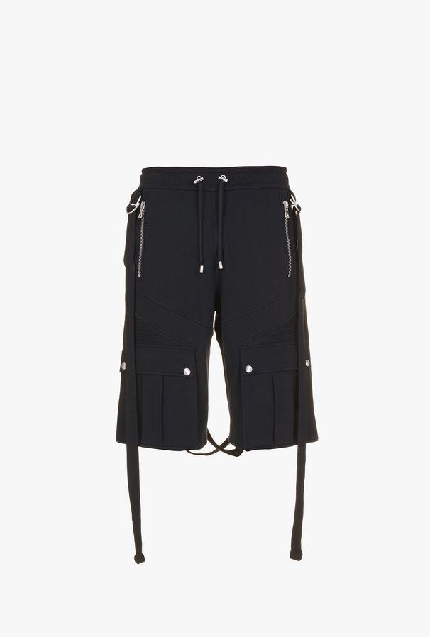 Shorts Neri Con Cinturini - Balmain