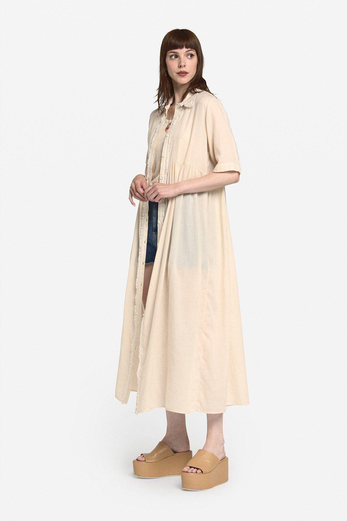 Midi Shirt In Cotton - ottod'Ame