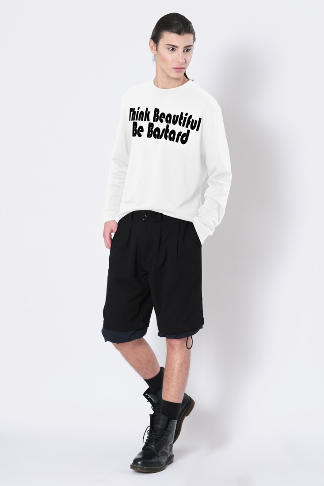 Think Beautiful Sweatshirt - Beautiful Bastard