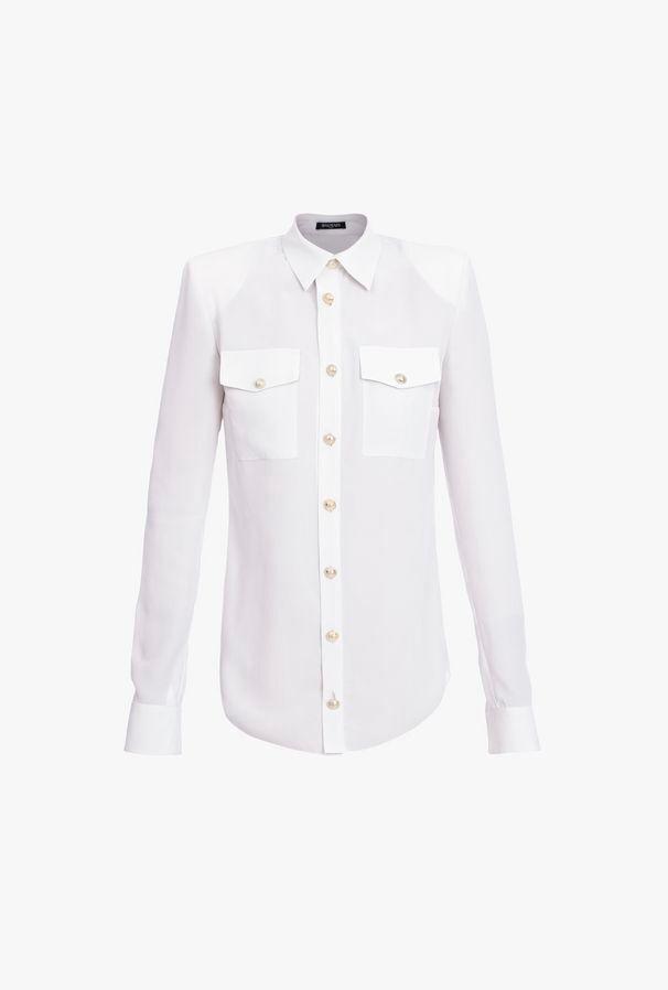 Camicia In Seta Bianca - Balmain