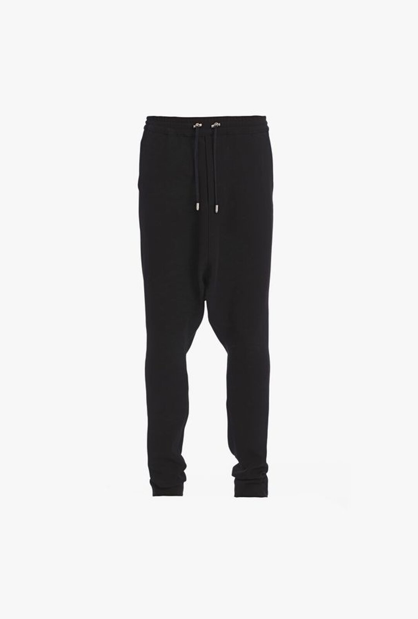 Pantaloni Neri In Crêpe Con Taglio Harem - Balmain