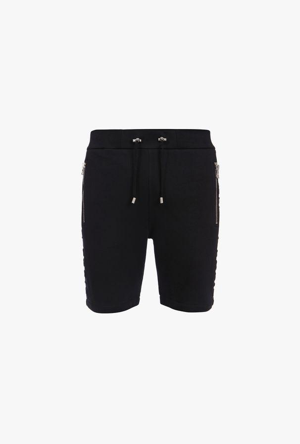 Shorts Neri In Cotone Con Logo Balmain - Balmain