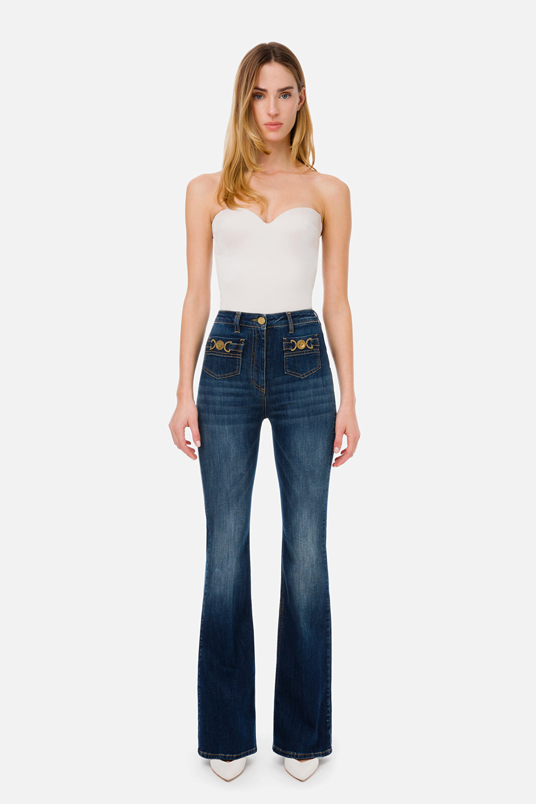 Tight Top With Bustier - Elisabetta Franchi