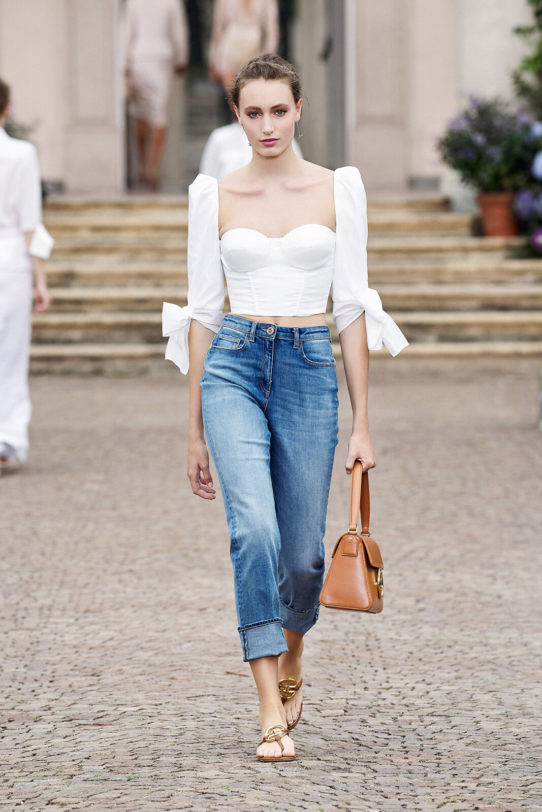 Top With Large Ottoman Sleeves - Elisabetta Franchi