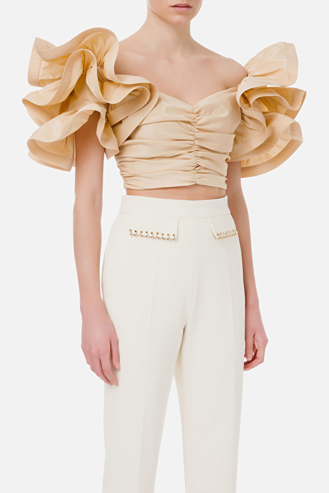 Ottoman Top With Rouches Sleeve - Elisabetta Franchi