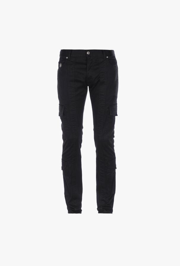 Pantaloni Cargo Neri In Cotone - Balmain