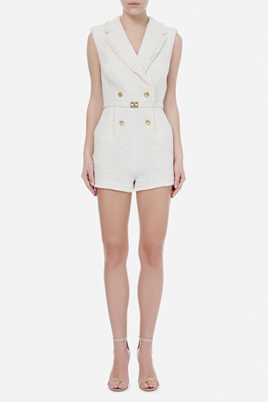 Short Suit In Tweed Elisabetta Franchi - Elisabetta Franchi