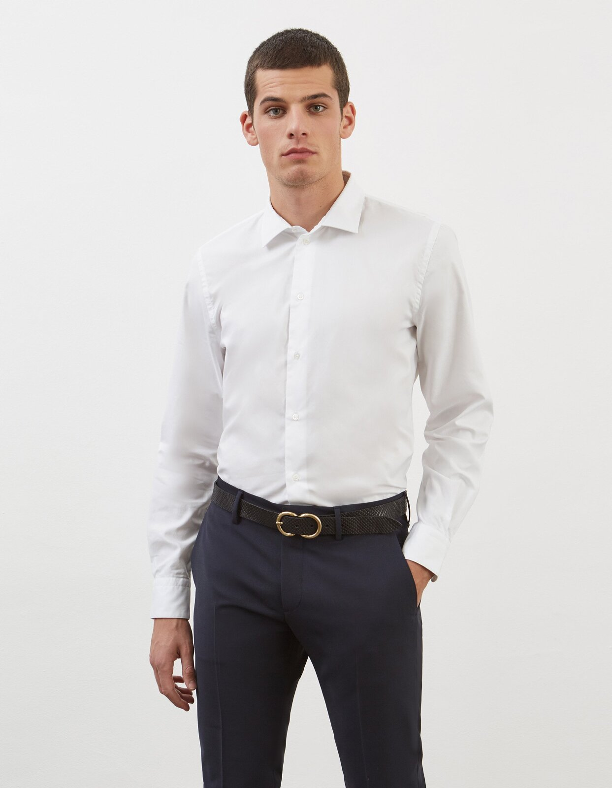 Camicia Regular In Oxford - Dondup