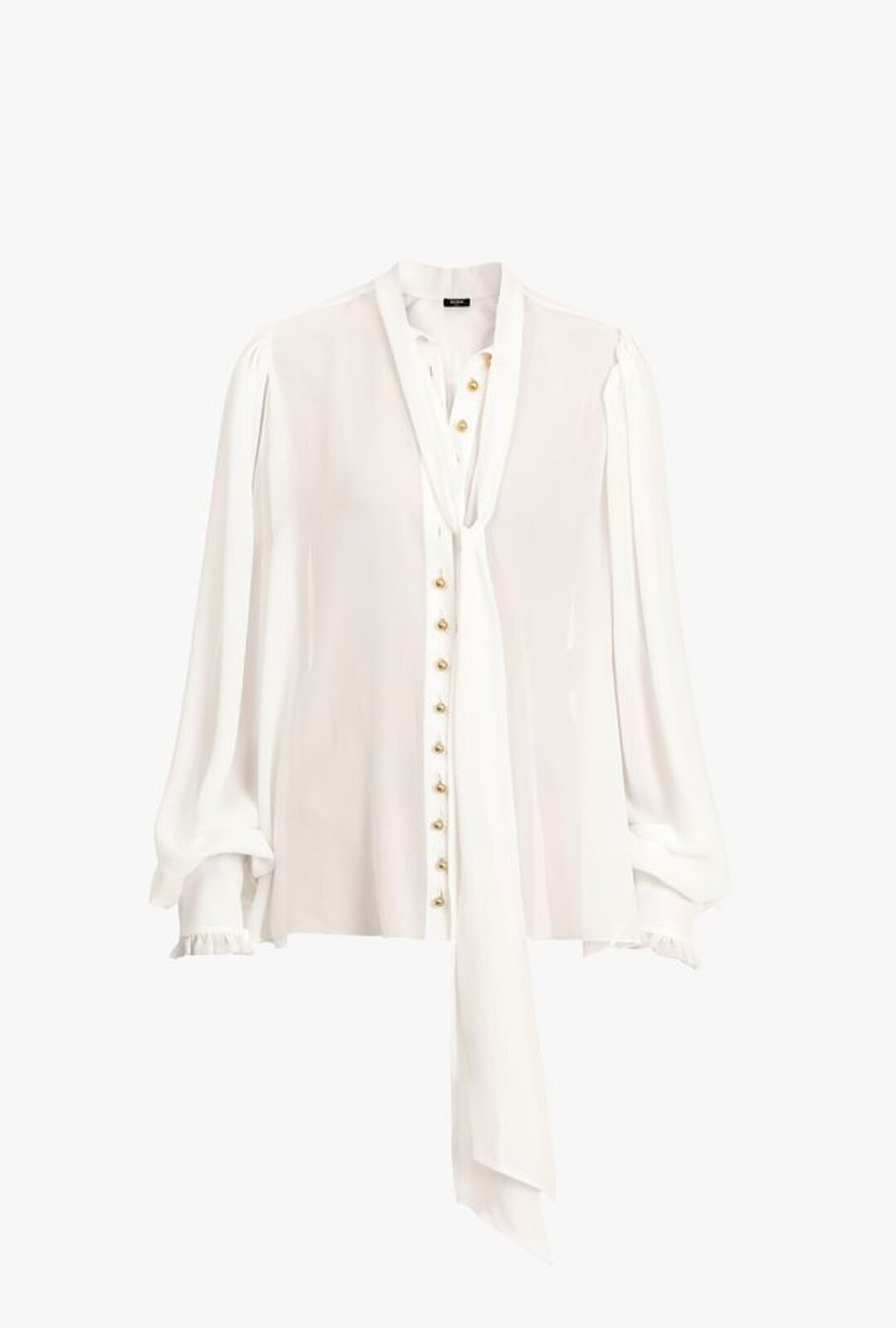 Georgette Blouse With White Bow - Balmain