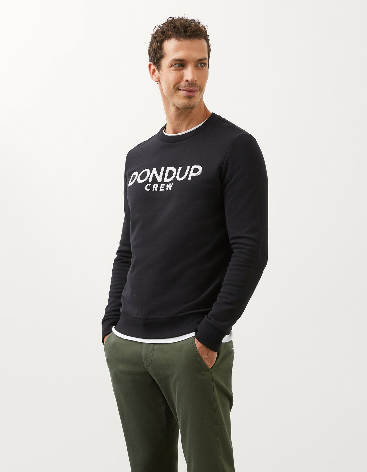 Brushed Cotton Sweatshirt - Dondup