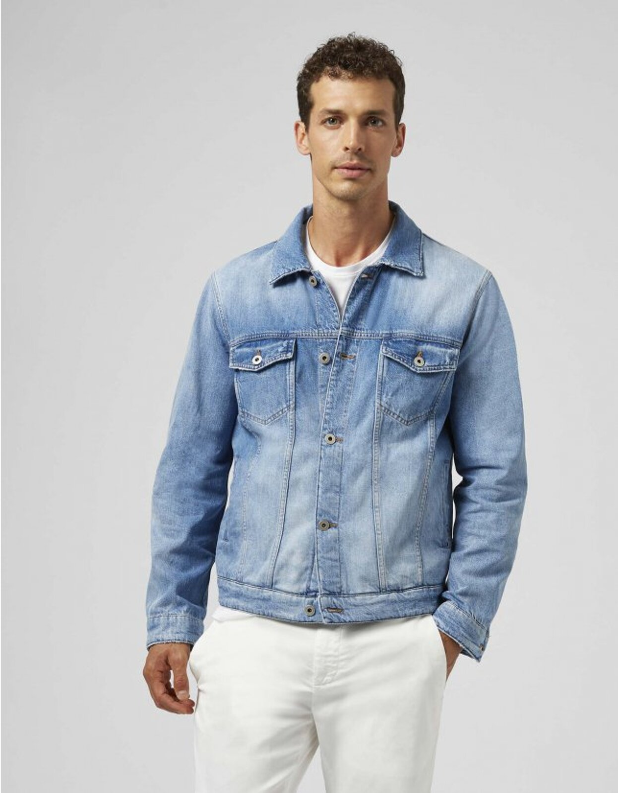 Giubbino Slim In Denim - Dondup