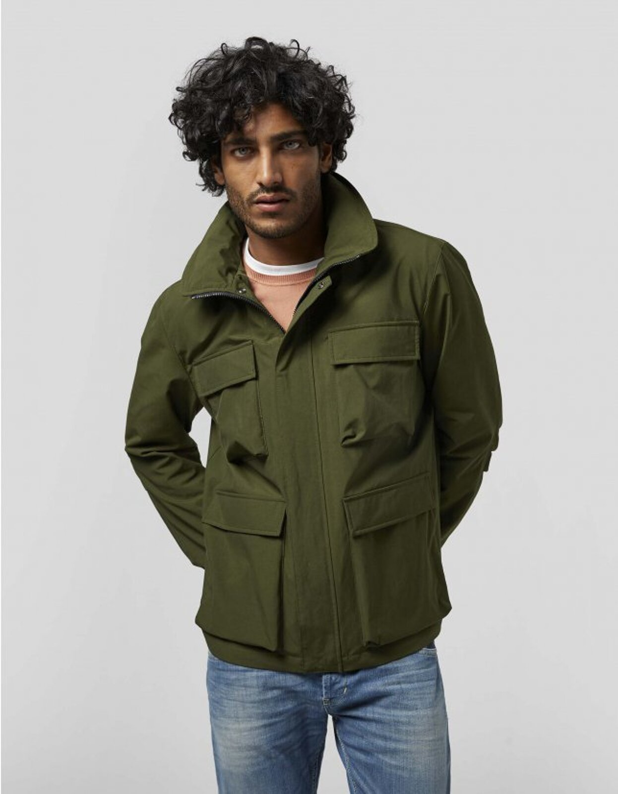 Field Jacket In Canvas Resinato - Dondup