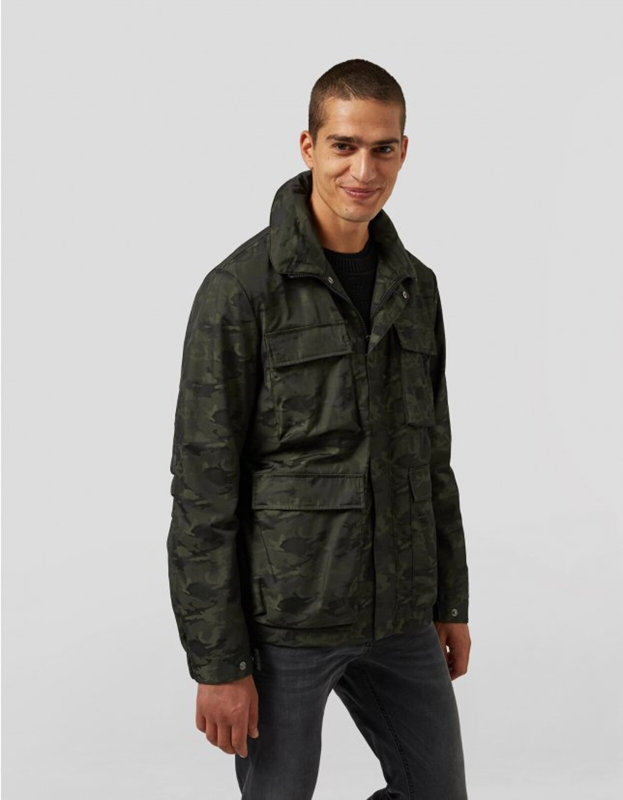 Field Jacket In Nylon Camouflage - Dondup