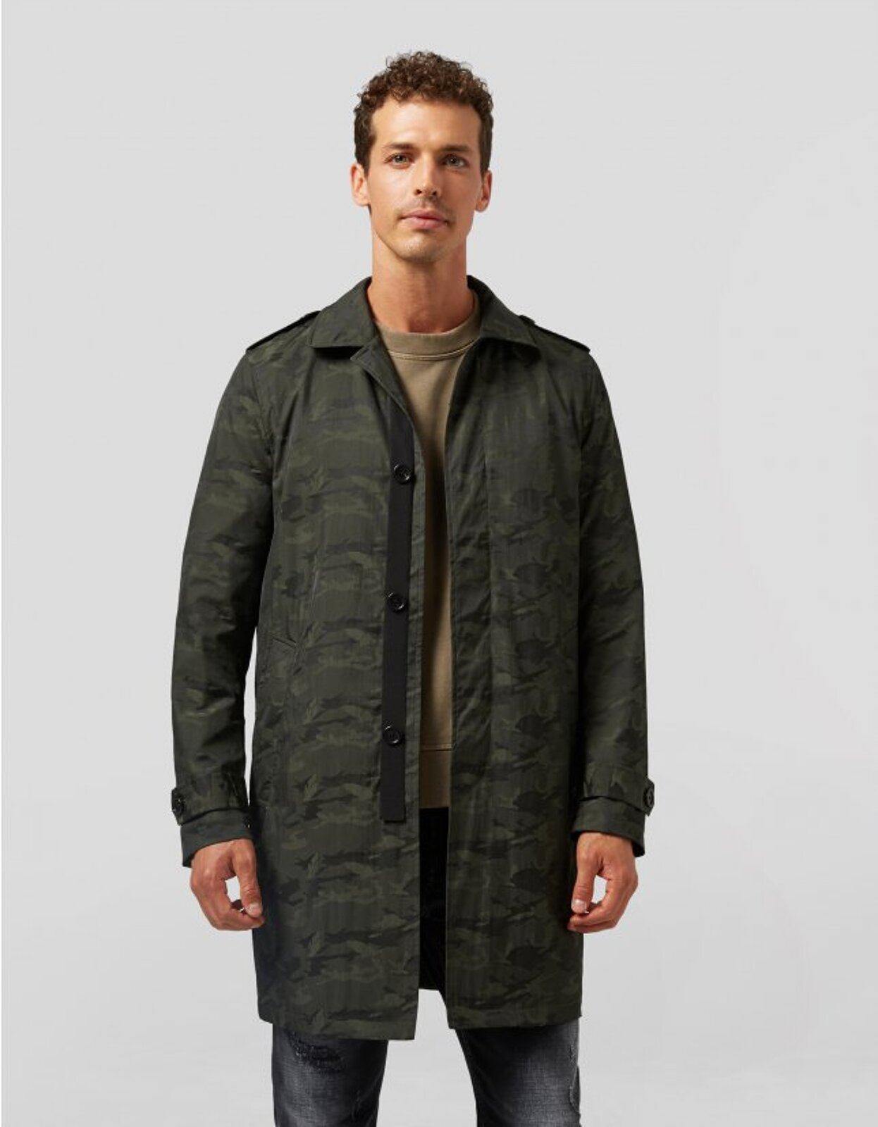 Trench In Nylon Camouflage - Dondup