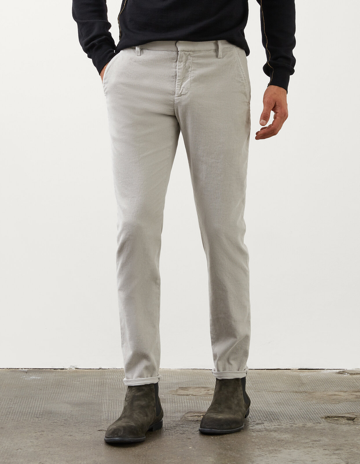 Pantalone Slim Gaubert In Velluto - Dondup