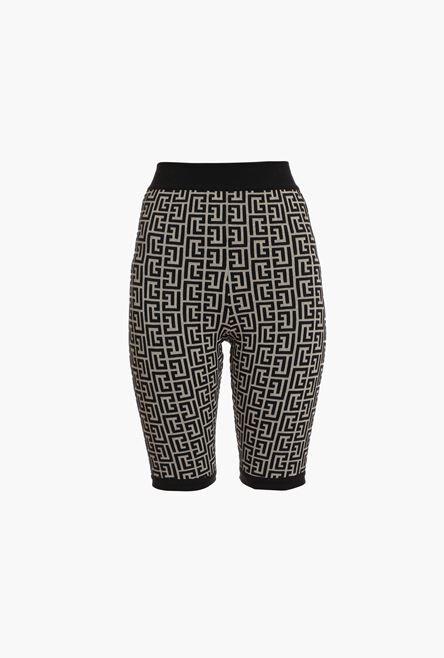 Shorts Bicolore In Maglia Jacquard Con Monogramma Balmain - Balmain
