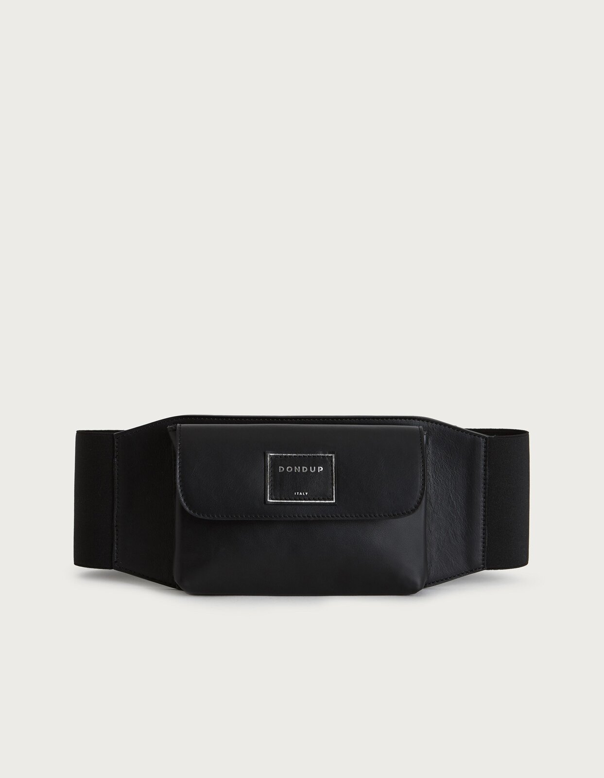 Pouch belt in nappa leather - Dondup