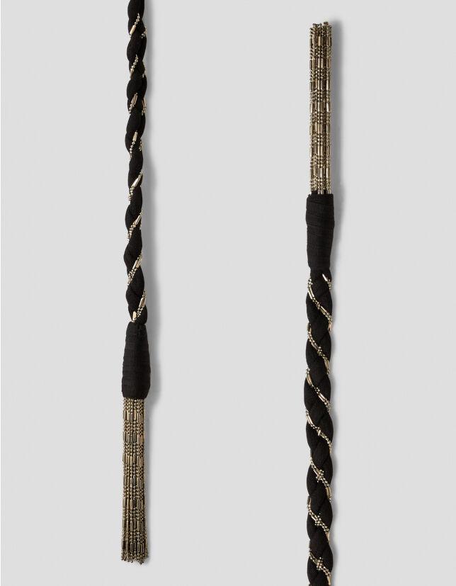 Nylon And Metal Ribbon Belt - Dondup